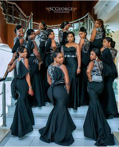 Beautiful queens 👸🏽 👸🏽 👸🏽 ⠀⠀ Planner Bridesmaids dresses Bridal stylist Makeup once Photography African Bridesmaid Dresses, African Wedding Attire, Mermaid Bridesmaid Dresses, African Lace Dresses, Latest African Fashion Dresses, African Dresses For Women, Bridal Dresses, African Weddings, Nigerian Fashion
