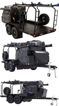 Camping Car Van, Kayak Camping, Truck Camping, Camping Tips, Expedition Trailer, Overland Trailer, Expedition Vehicle, Overland Truck, Off Road Camper Trailer