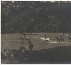 Students horseback riding on Field Day :: Archives & Special Collections Digital Images :: circa 1935-1936