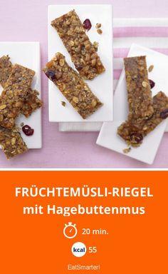 Früchtemüsli-Riegel - mit Hagebuttenmus - smarter - Kalorien: 55 Kcal - Zeit: 20 Min. | eatsmarter.de