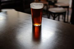 Undercurrent, an American pale ale from Siren Craft Brew, a brewery in Berkshire, served at Euston Tap in central London.