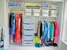 Most Useful Diy Closet Organization Decor Inspirational Ideas For Small Spaces - Page 36 of 50 - Diaror Diary Closet Storage Bins, Kids Storage Bins, Storage Bins With Lids, Best Closet Organization, Storage Spaces, Organization Ideas, Closet Racks, Storage Ideas, Clothes Storage