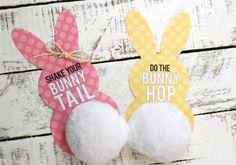 Free Printable Bunny Tail Tags