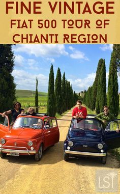 This is one of the highlights of our trip to Italy with Citalia. Between driving in vintage Fiat 500s and wine tasting Chianti Classico wines we had a blast on our wine tour of Tuscany's Chianti Hills. Watch our travel video to see just how much fun you can have in one of the world's smallest cars: https://www.youtube.com/watch?v=ZbwGNeTaym4