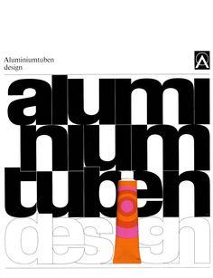 Effert (Paul, DE) 1969 Aluminiumtuben design (Aluminium-Zentrale, Düsseldorf) Broschüre Umschlag | by ideenstadt