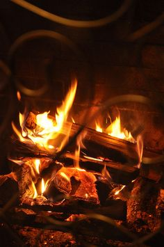 I love a good fire in the fireplace