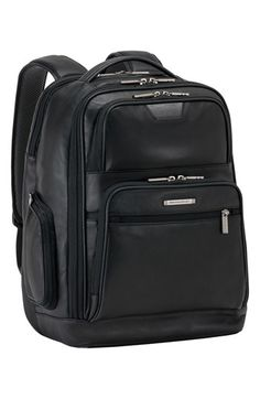 Free shipping and returns on Briggs & Riley 'Medium' Leather Laptop Backpack at Nordstrom.com. Supple leather upgrades a style-savvy backpack that includes checkpoint-friendly features like a removable padded laptop sleeve and easy-access exterior pockets for reading material and tickets. Padded, ergonomic straps and breathable mesh at the padded back panel keep you comfortable, and a RFID-blocking pocket helps keep your digital information secure.