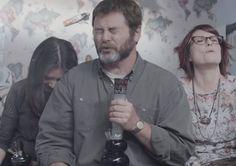 Nick Offerman, Megan Mullally & Alison Brie Smoking Weed In Bed