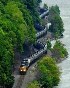 """Looks Like A Snake! """"Snake on a Train!"""" The Snake is a Train! Train Car, Train Tracks, Train Rides, Places To Travel, Places To Visit, Rail Transport, Train Pictures, Old Trains, Train Station"""
