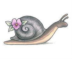 Snail Tattoo Design Fine Art