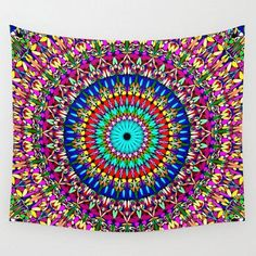 Magic Life Garden Mandala Wall Tapestry by Mandala Magic by David Zydd - Small: x Mandala Tapestry, Wall Tapestry, Tapestry Floral, Tapestry Design, Geometric Flower, Flower Mandala, Cosy Bedroom, Master Bedroom, Cheap Beach Decor