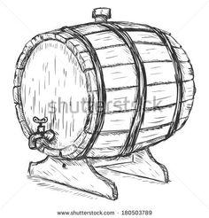 Beer Keg Sketch Vector sketch illustration