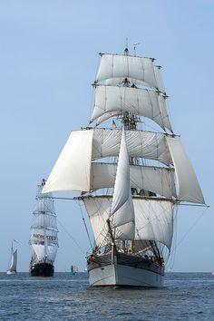 #trekronor #hansesail #sailing #ships #rostock #warnemünde #warnemuende #traditionssegler #tallships
