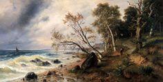 Friedrich Preller  (1838–1901)  Ostseeküste auf der Insel Vilm 1888