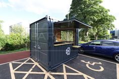 10ft-new-bespoke-coffee-shop-container on the Ground