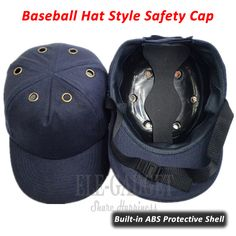 65e7ad90f91 Bump Cap Work Safety Helmet ABS Inner Shell Baseball Hat Style Protective  Hard Hat For Workwear Head Protection Top 6 Holes