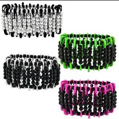 Bead and safty pin bracelets