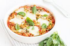 Mmm courgette pasta uit de oven. Lekker licht en snel klaar.