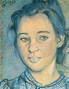 Stanisław Wyspiański - Head of a girl