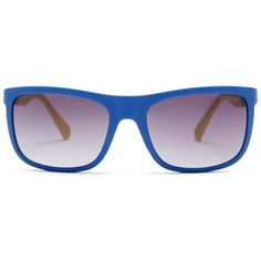 GUESS Women's Injected Sunglasses (€28) ❤ liked on Polyvore featuring accessories, eyewear, sunglasses, blue plastic glasses, plastic lens glasses, blue lens sunglasses, guess sunglasses and plastic sunglasses