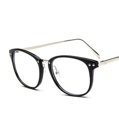 ba8efe12d85a 2016 New Arrival Big Size Glasses Frames 9565 Metal Leg Vintage Tide Eyeglasses  Frame Women Men