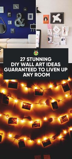 It is really easy to transform a house just by adding different wall art here and there. We show you stunning DIY wall art ideas you can make yourself. Diy Wall Art, Diy Wall Decor, Bedroom Decor, Bedroom Ideas, Bedroom Wall, Boho Decor, Discount Bedroom Furniture, Wall Stickers Murals, Wall Decals