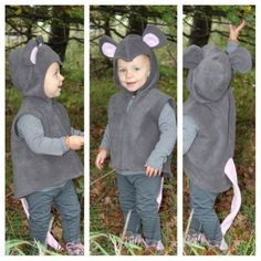 Genähtes Kostüm Maus von Heike Mouse Costume, Field Day, Diy Photo, Little People, Baby Love, Crochet Hats, Sewing, Role Play, David