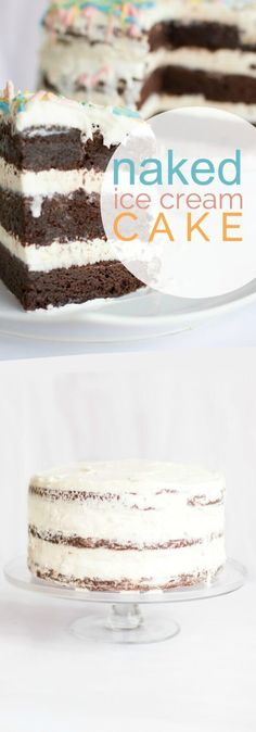 A fun kid's party food recipe -- Naked Ice Cream Cake!