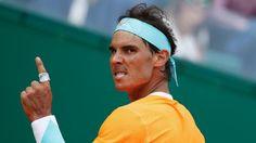 Rafael Nadal of Spain, seen during his Monte-Carlo ATP Masters Series semi-final match against Novak Djokovic of Serbia, in Monaco, on April 18, 2015 GAME FACE : )
