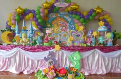Ursinhos Carinhosos (Festa) Care Bear Party, Care Bear Birthday, Birthday Cake, Care Bears, First Birthday Parties, First Birthdays, Birthday Ideas, Birthday Candles, Rainbow