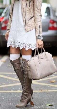 Miss Rich: Knee high socks: women's fashion trend 2014