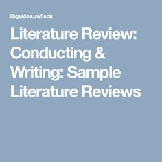 best Literature Review images on Pinterest   Academic writing