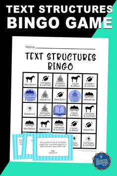 Need a fun way to practice and review nonfiction text structures in 3rd-5th? This bingo game uses sentences about spiders, horses, ships, eggs, and football to ask students to identify the text structures of cause and effect, compare and contrast, description, problem and solution, and sequence! Bingo Games For Kids, Learning Games For Kids, Response To Intervention, Small Group Reading, Text Structures, Group Games, Compare And Contrast, Problem And Solution, Test Prep