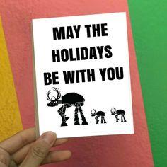 Holiday Card  Christmas Card  Star Wars Holiday Card by SaltyDays