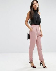 ASOS Tailored High Waisted Pants with Turn Up Detail