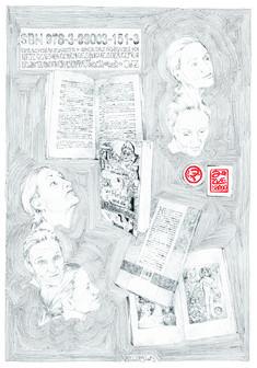 eine Frau und das Schreiben eines Romanes 70 x 100 cm Bleistift 2013 1, Personalized Items, Corona, Paper, Writing, Woman