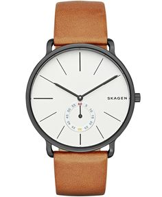 Skagen Hagen Multifunction Leather Watch
