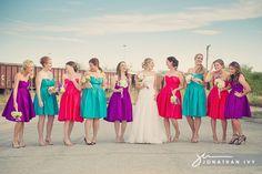 Multi Color Bridesmaids Dresses
