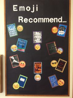 Emoji Recommended Reads! Library Bulletin Board