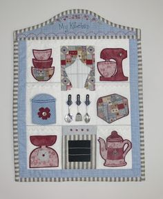 Girls young and young-at-heart will just love this gorgeous interactive wall-hanging. All the elements are removable so it is ideal for a child's pretend play. There's even an apple pie in the oven! A bonus pattern for a sweet apron is included. Val Laird Designs