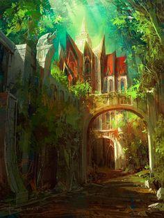 jungle/temple environment concept art