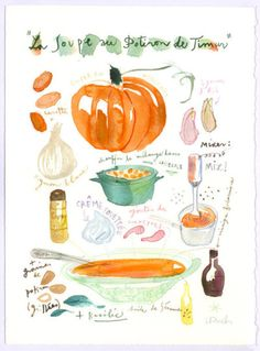 Can't help it. Has a pumpkin and adorable illustration and watercolor technique.