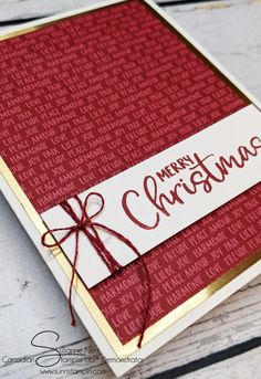 Homemade Christmas Cards, Stampin Up Christmas, Simple Christmas, Christmas Holidays, Stampin Up Paper Pumpkin, Stamping Up Cards, Joy To The World, Card Envelopes, Winter Cards