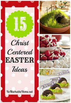 It is so important to always remember the reason for the season :) 15 Christ Centered Easter Ideas  ! by ReMarkable Home