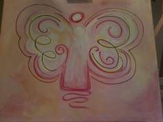 Angel for children's room - painted for great niece