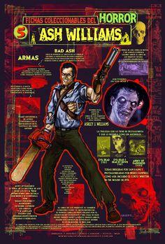 Ficha infográfica homenaje a Evil Dead. Dibujos y diseños míos
