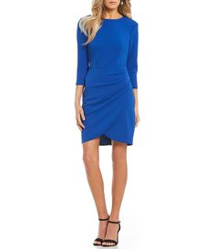 Shop for B. Darlin 3/4-Sleeve Envelope Hem Dress at Dillards.com. Visit Dillards.com to find clothing, accessories, shoes, cosmetics & more. The Style of Your Life.