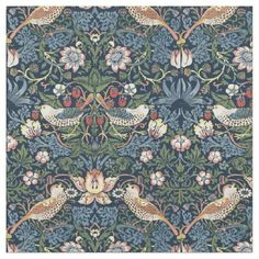 Strawberry Thief by William Morris Fabric - antique gifts stylish cool diy custom