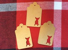 Die Cut Chihuahua Tag by NatureCuts on Etsy