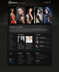 Glance Model Agency Joomla Template by Dynamic Template